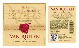 2013 Old Vine Zinfandel Label Set